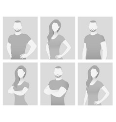 Default placeholder fitness trainer in a t-shirt vector