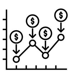 Dollar cost average solid vector