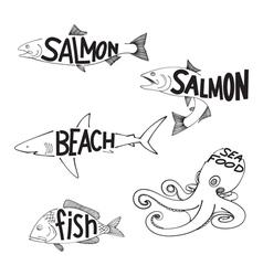 drawing fish vector image