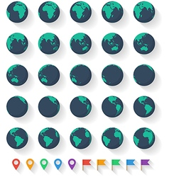 Earth Set vector image