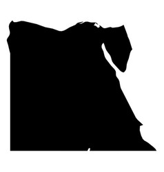 egypt - solid black silhouette map of country area vector image