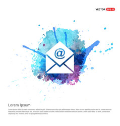 Email icon - watercolor background vector