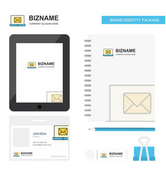 email on laptop business logo tab app diary pvc vector image