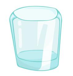 Empty glass isolated vector