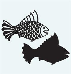Fish piranha vector image