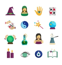 Fortune teller icon flat vector