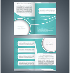 Green bifold brochure template design vector