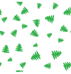 green christmas tree on a white background vector image