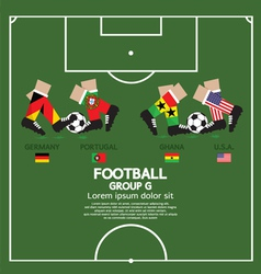 Group G 2014 Football Tournament vector image
