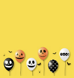 halloween background with balloons vector image