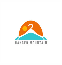 hanger mountain logo vector image