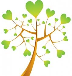 heart tree illustration vector image