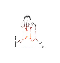 Improve business plan for success concept sketch vector