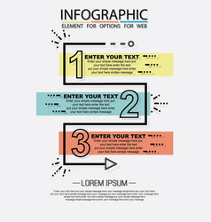 infographic of three simple style options vector image
