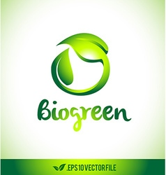 Leaf logo bio logo icon leaves vector
