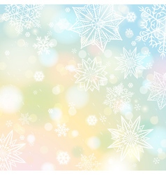 Light color background with snowflakes and stars vector