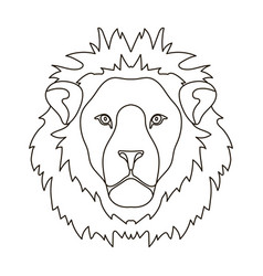 lion icon in outline style isolated on white vector image