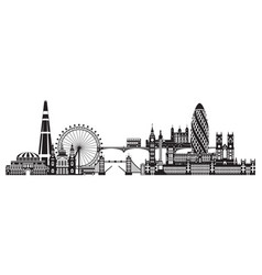 london city skyline 5 vector image
