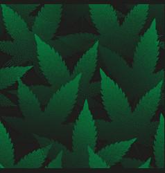Marijuana leaves seamless pattern pointillism art vector