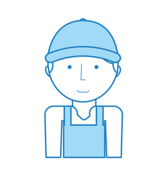 mechanic worker with overalls vector image