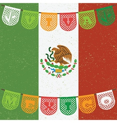 mexican flag decoration vector image