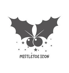 mistletoe icon simple flat style vector image