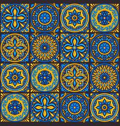 Moroccan ceramic tile seamless pattern vector