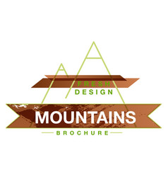 Mountains logo design template vector