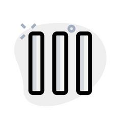 Multiple column bar layout - vertical strip vector