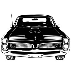 Muscle car - old usa classic car 1960s muscle vector