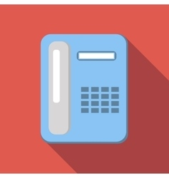 Office phone flat icon vector image vector image