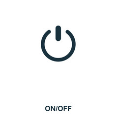 on off icon line style icon design ui vector image