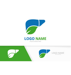 Organic liver logo combination unique internal vector