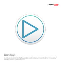 play button icon - white circle button vector image