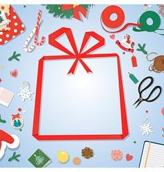 postcardpaper copyspacepaper gift frame vector image