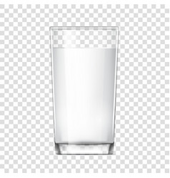 realistic glass cup with milk vector image