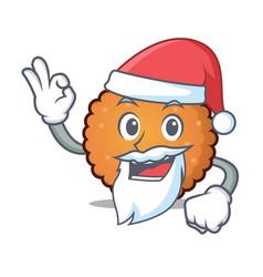 Santa cookies mascot cartoon style vector