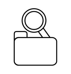 search folder web technology find line vector image