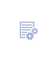 settings file icon on white vector image