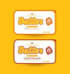 Stock packaging design for butter vector