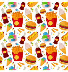 street food pattern vector image