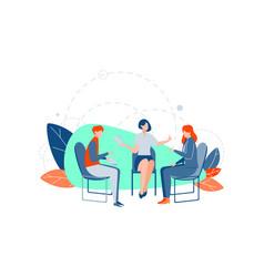 teamwork communication brainstorm business vector image