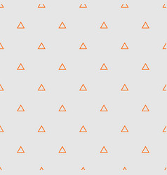 tile pattern with orange triangles on grey vector image