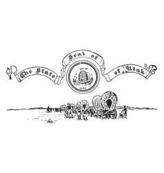 United states seal utah vintage vector