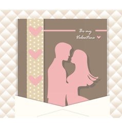 Valentine Day couple card vector