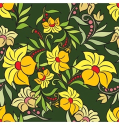 Various summer flowers vector image