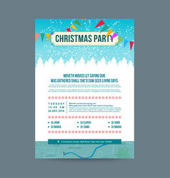 White and blue christmas party invitation card vector