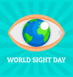 World eye day concept background flat style vector