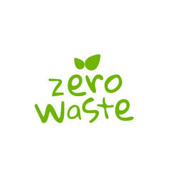 Zero waste logo icon reduce reuse eco vector