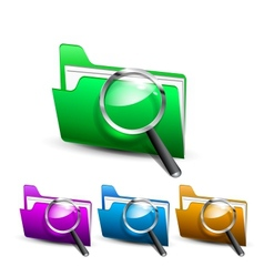 search folder vector image vector image